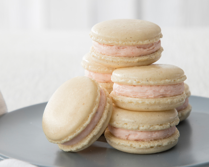 March Vanilla Bean Macarons With Strawberry Buttercream Page 2 Of 2 Bake From Scratch
