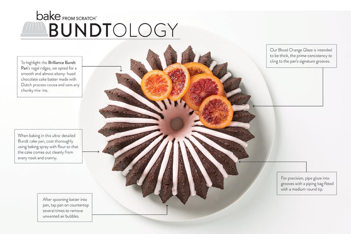 Chocolate Olive Oil Cake with Blood Orange Glaze