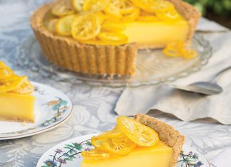 Tarte au Citron with Pine Nut Crust