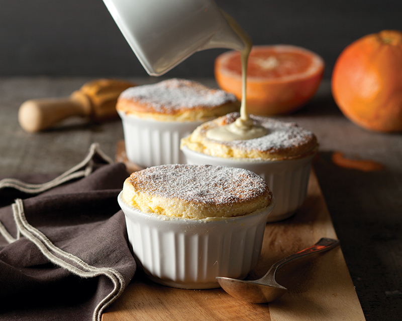 Grapefruit Soufflés with Grapefruit Crème Anglaise - Bake from ...