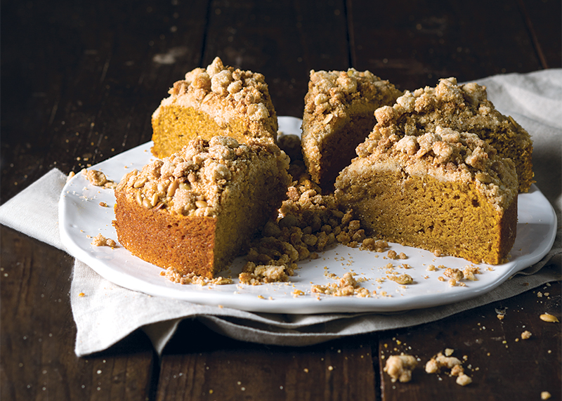 Pumpkin Cake with Browned Butter Streusel - Bake from Scratch