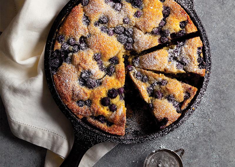 Blueberry-Cornmeal Skillet Cake