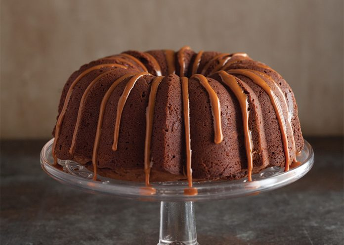 German Chocolate Cake with Butterscotch Glaze