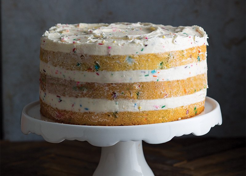 Confetti cake or party party cake bake from scratch for Ingredients to bake a cake from scratch