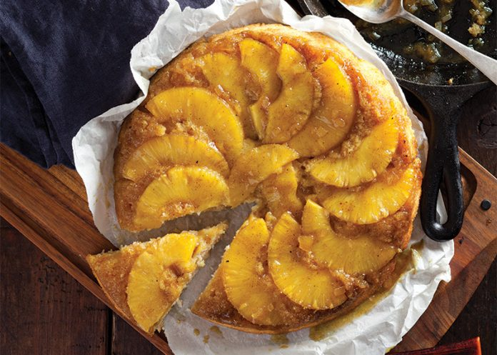 Pineapple Curry Upside Down Cake