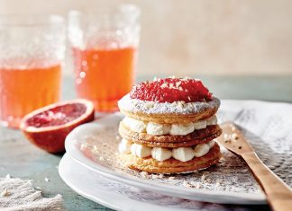 Blood Orange Mille Feuille with Chantilly Cream - Spring 2016 Bake from Scratch