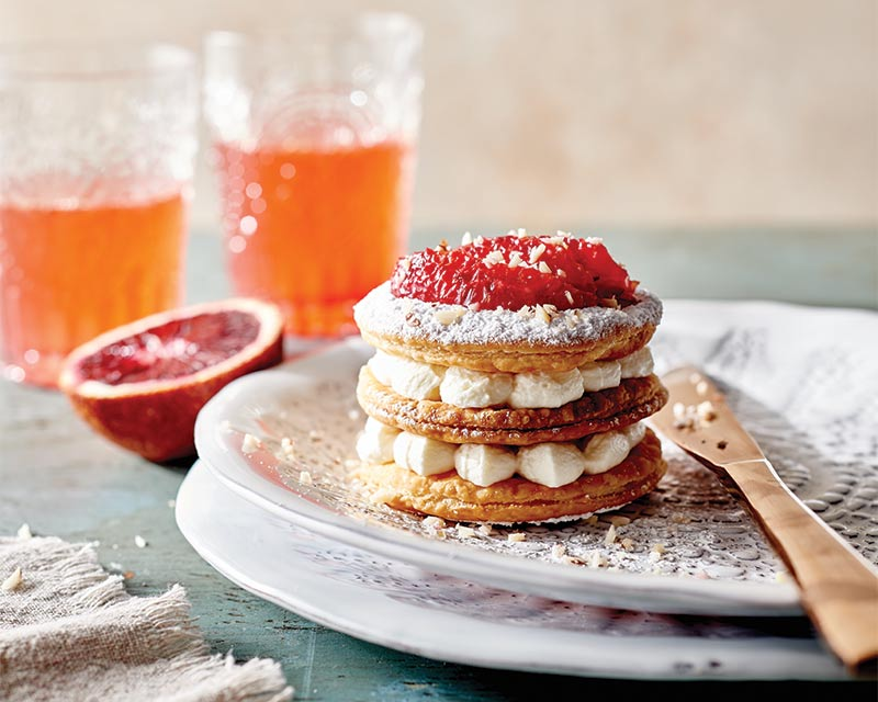 Quick Blood Orange Mille Feuille With Chantilly Cream Bake From Scratch