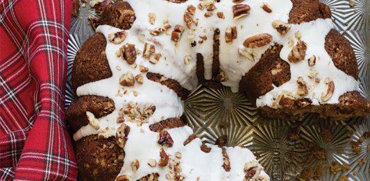 Baking with Cinnamon | Spiced Coconut Oil Cake with Bourbon Glaze