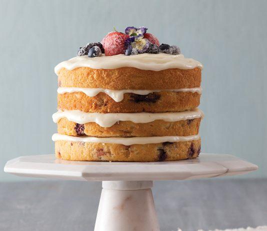Berry Buttermilk Cake with Mascarpone Crème Fraîche