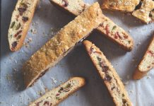 Candied Strawberry and Olive Biscotti