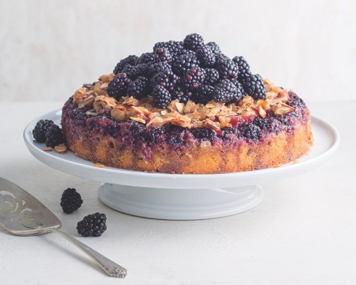 Blackberry-Almond Upside-Down Cake