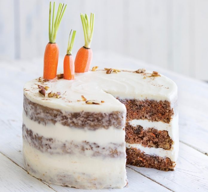 Apricot-Carrot Cake with Honey Cream Frosting