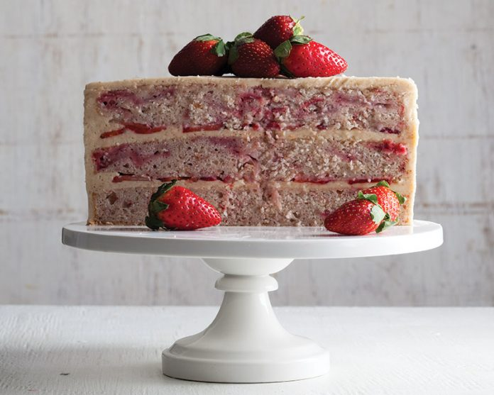 Natural Strawberry Cake with Browned Butter Frosting ...