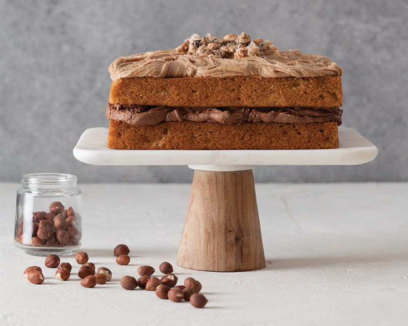 Banana Cake with Brown Sugar Hazelnut Buttercream