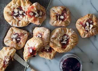 Traditional Cream Cheese and Jam Danish