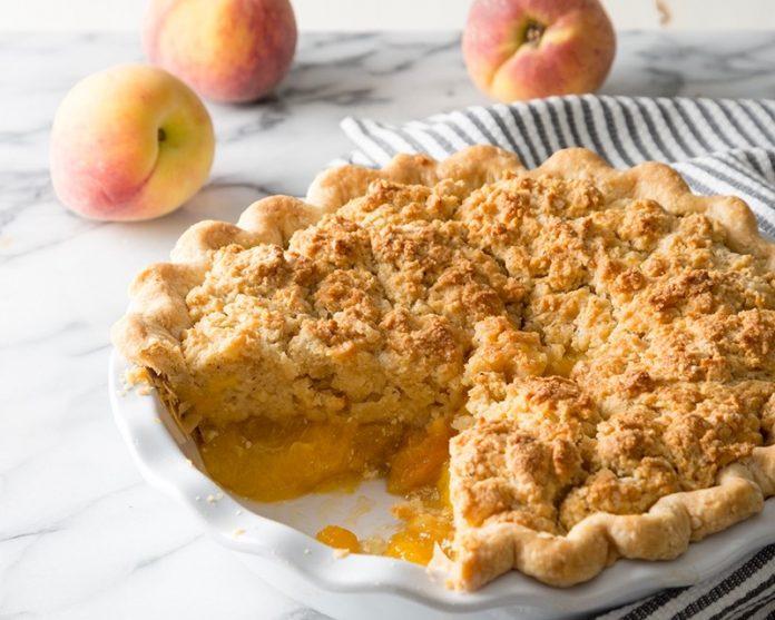 Ginger Peach Biscuit Pie