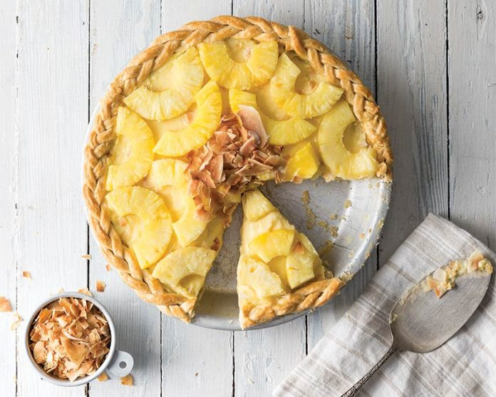 Pineapple & Coconut Pie