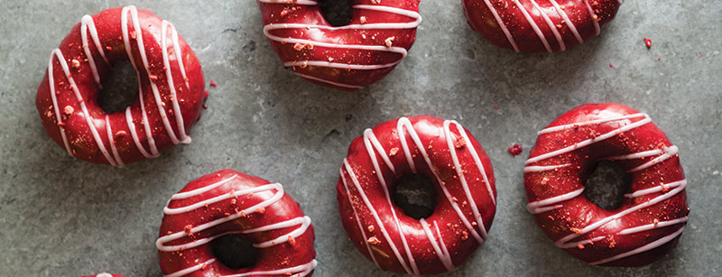 Triple Berry Cake Doughnuts