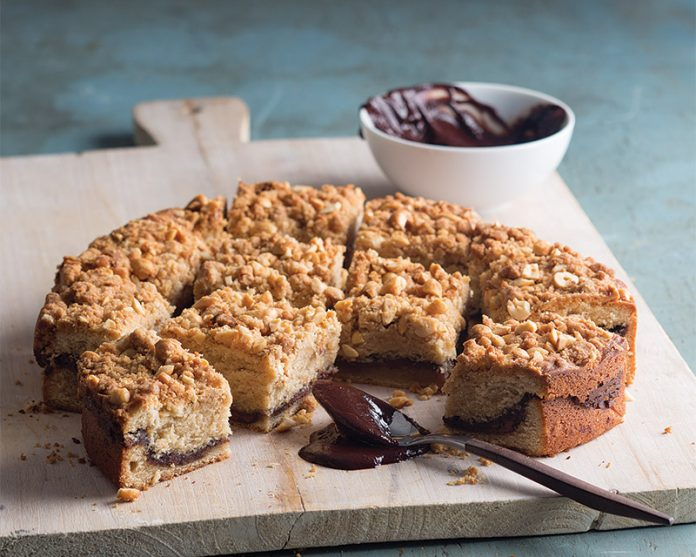 Peanut Butter-Nutella Coffee Cake