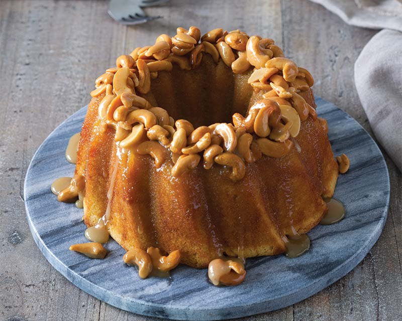 Honey cashew bundt cake