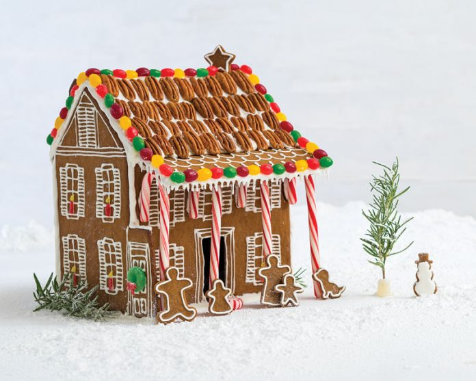 Gingerbread house blueprint bake from scratch gingerbread house malvernweather Choice Image
