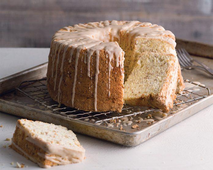 Butter Pecan Angel Food Cake
