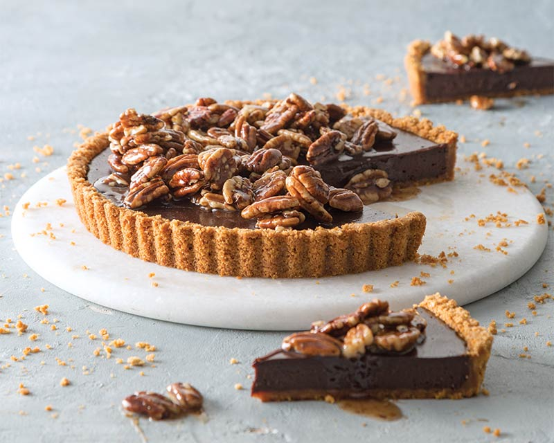 Chocolate Tart with Honey-Glazed Pecans - Bake from Scratch