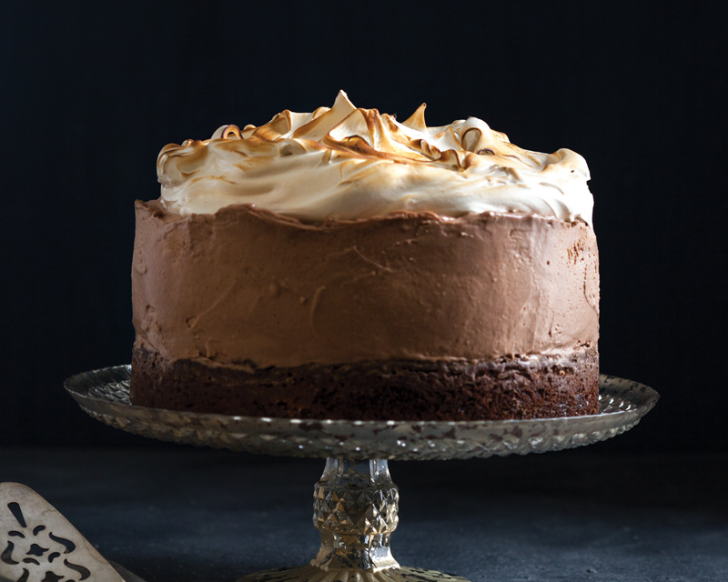 Chocolate-Chestnut Mousse Cake