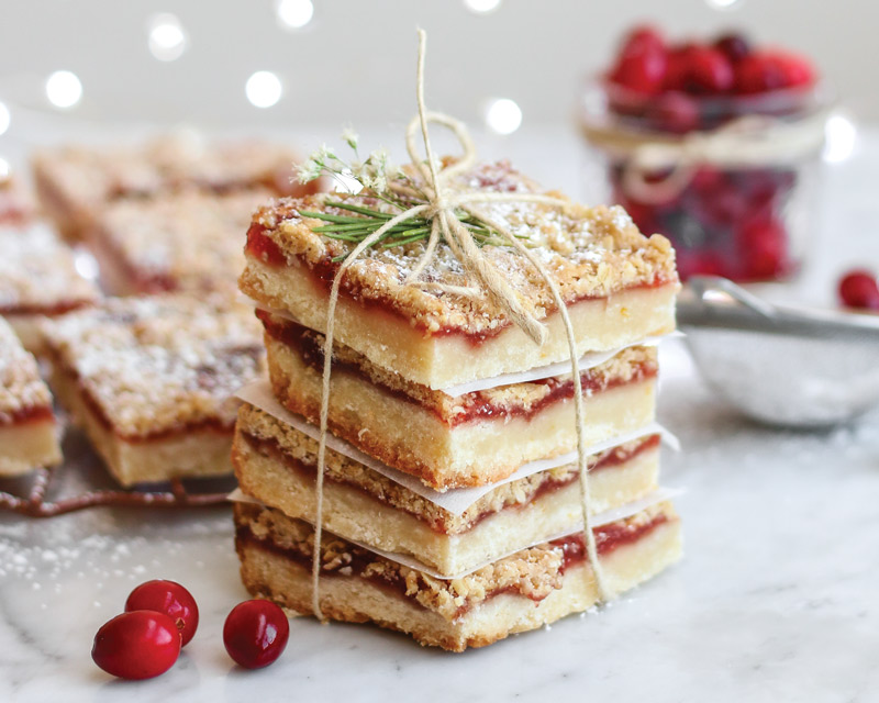 Browned Butter Cranberry Orange Bars