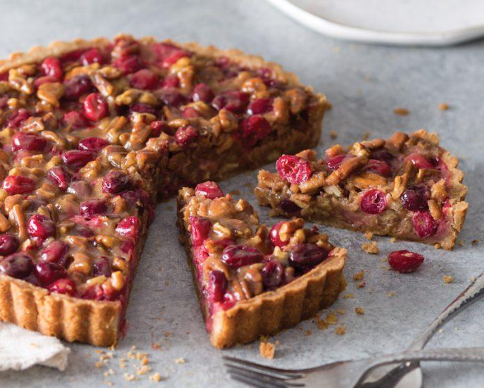 Cranberry-Caramel Tart