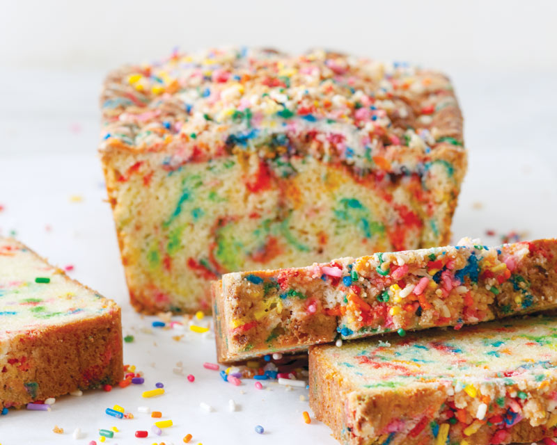 Rainbow Sprinkle Bread With Birthday Crumb Topping Bake