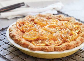 Meyer Lemon Buttermilk Pie