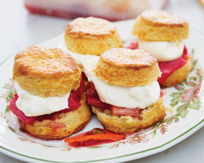 Cardamom Rhubarb Shortcakes