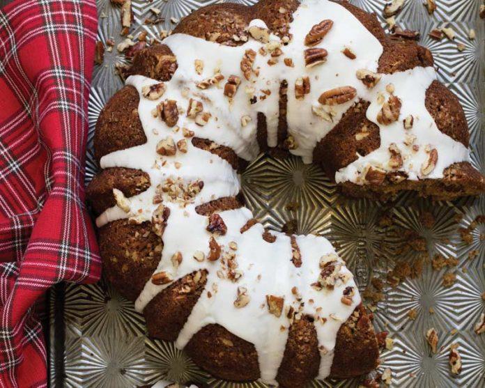 Spiced Coconut Oil Cake with Bourbon Glaze