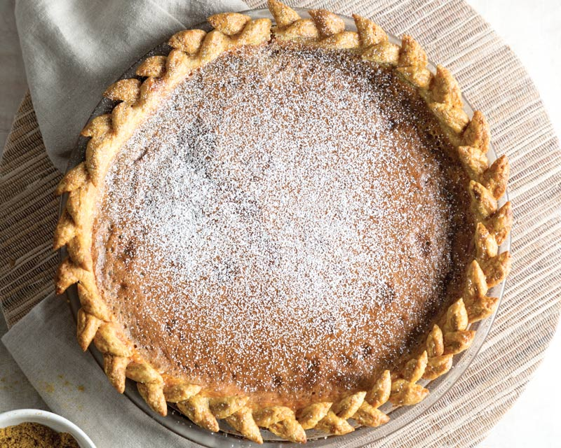 Butterscotch Pie with Coconut Curry Crust