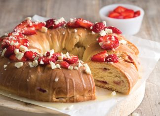 Strawberries and Cream King Cake