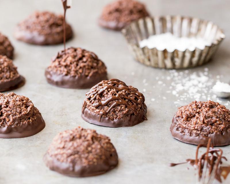 Crossed Chocolate Cake Cookies