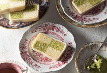 Matcha Battenburg Cake