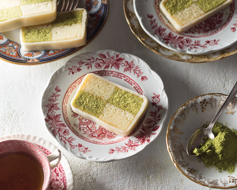 Matcha Battenburg Cake