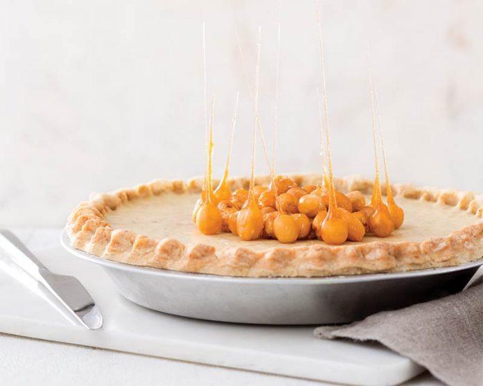 Chestnut-Hazelnut Caramel Pie