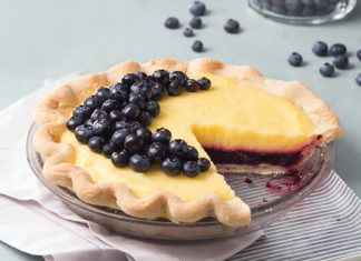 Meyer Lemon & Blueberry Pie