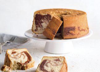 Retro Redo Marble Chiffon Cake