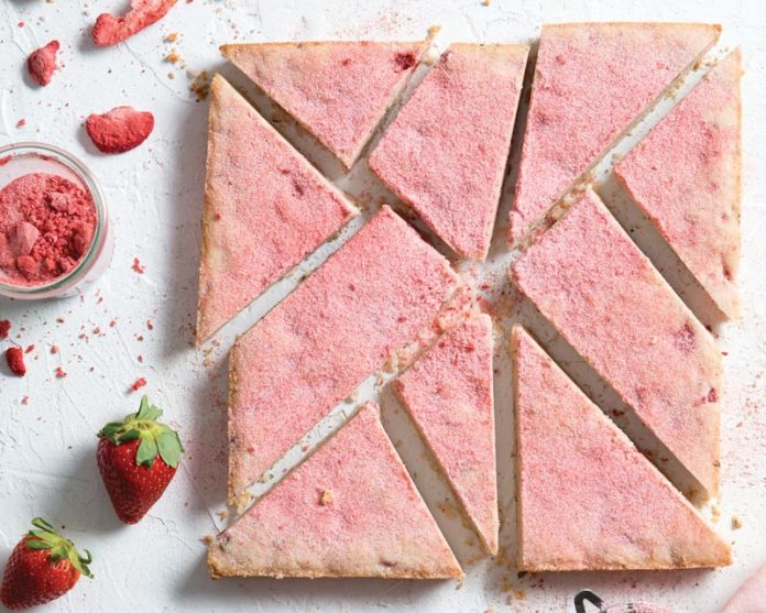 Strawberry and Rosemary Shortbread