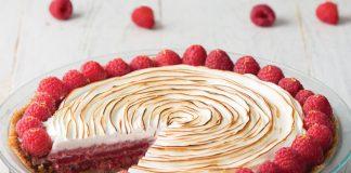Raspberry Lemon Chiffon Pie