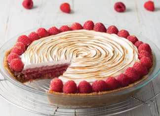 Raspberry Lemon Chiffon Pie