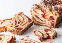 Strawberry Brioche Bread with Pearl Sugar