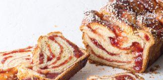 Strawberry Brioche Bread with Pearl Sugar