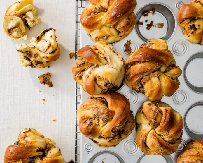 peanut butter chocolate babkas