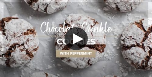 Single Wall Oven Video Chocolate Crinkle Cookies