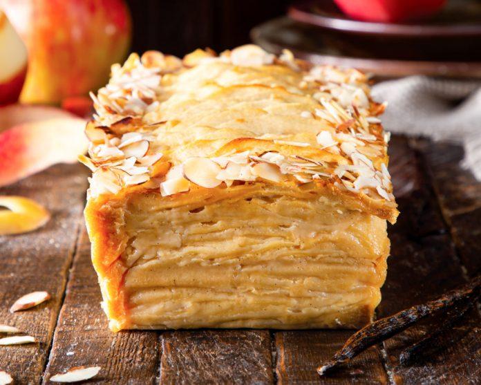 Invisible Apple Maple cake